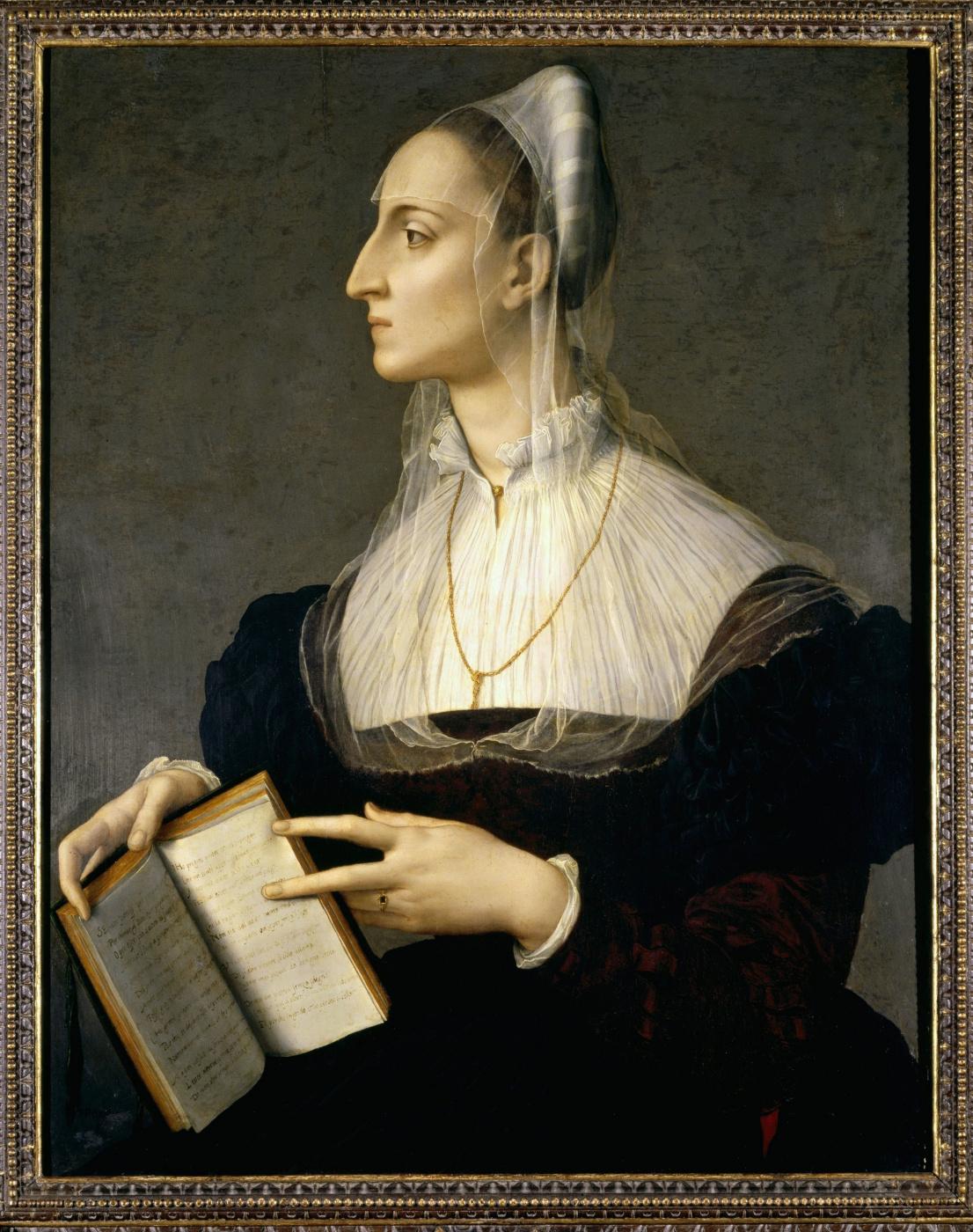 Agnolo Bronzino. Portrait of Laura Battiferri