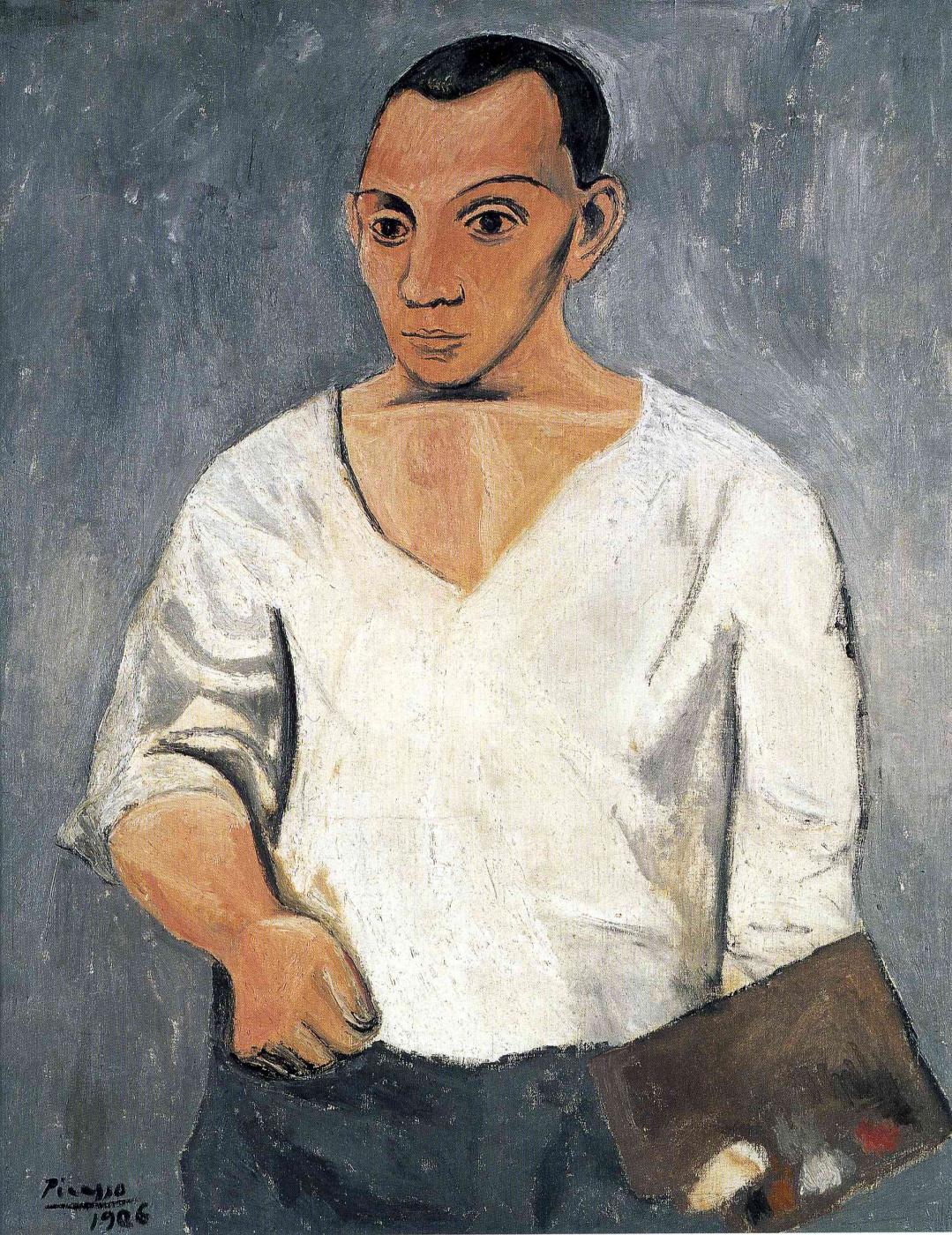 Pablo Picasso. Self-portrait with palette