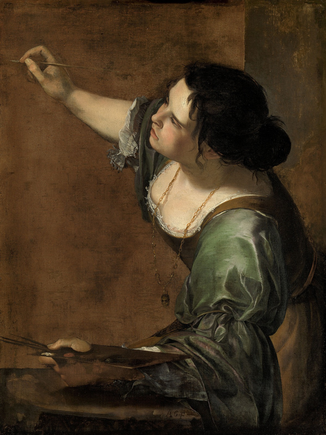 Artemisia Gentileschi. Self-portrait in the form of an allegory of painting
