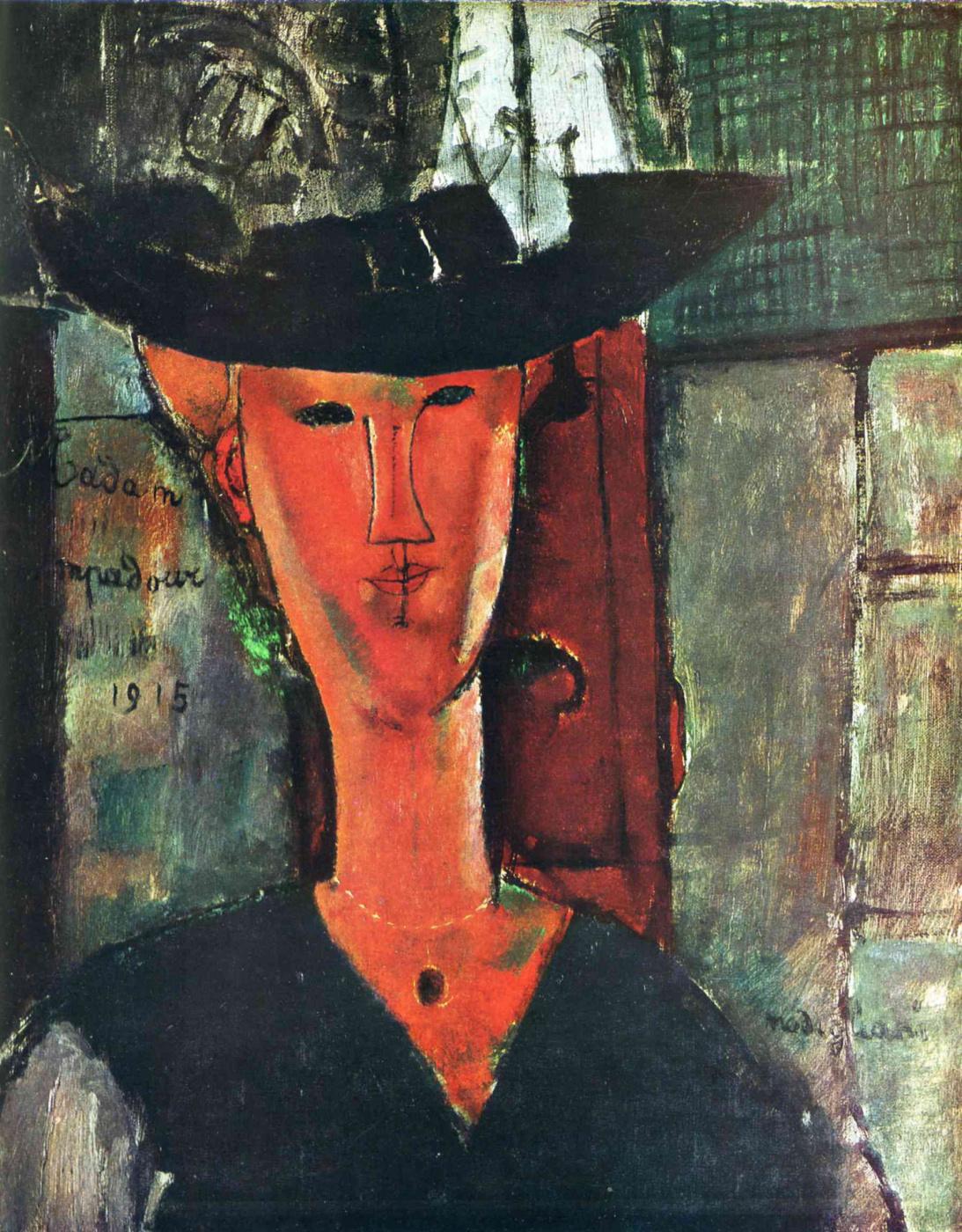 Amedeo Modigliani. Madame Pompadour. Portrait Of Beatrice Hastings