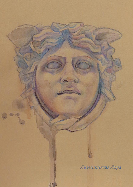 Laura Ladeishchikova. Gorgon Medusa Head