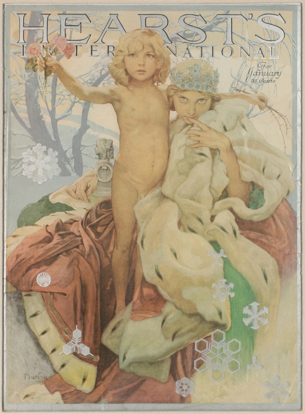 Alphonse Mucha. The cover of the January issue of Hurst International