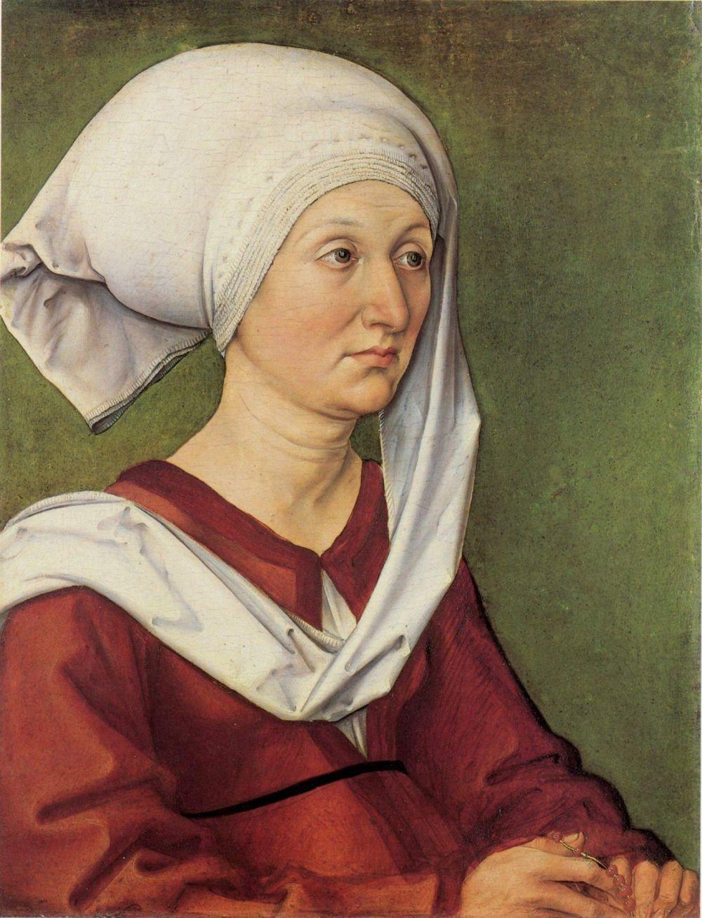 Albrecht Dürer. Portrait of Barbara dürer, née Holper