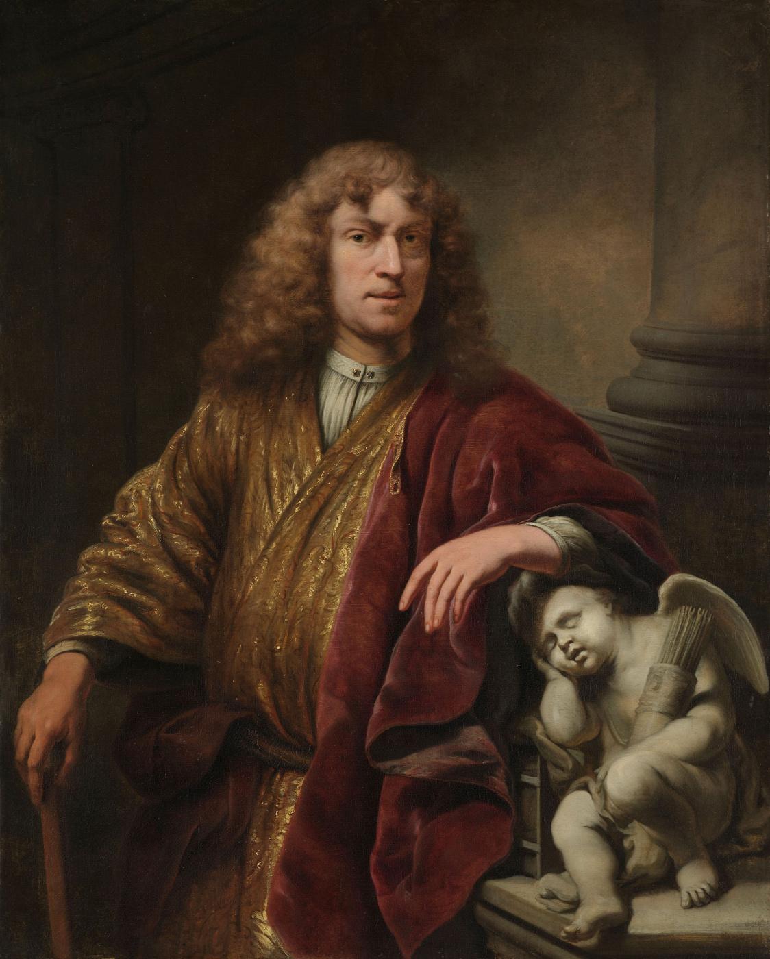 Ferdinand Baltasars Pain. Self-portrait (with the sleeping Cupid)