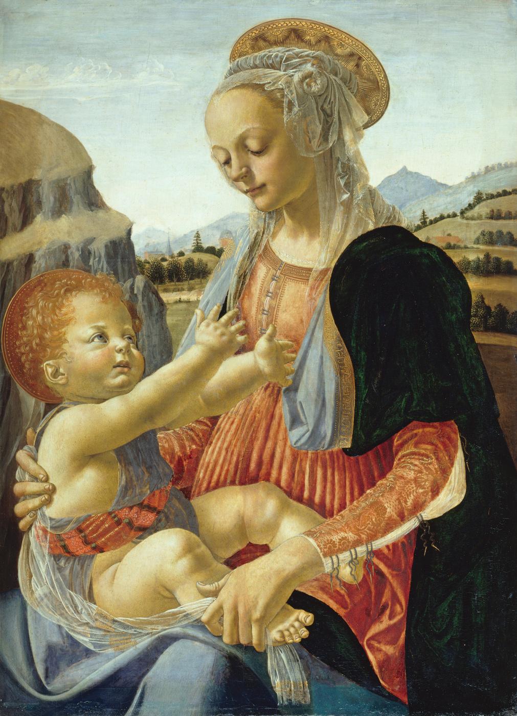 Андреа дель Вероккьо. Madonna and Child