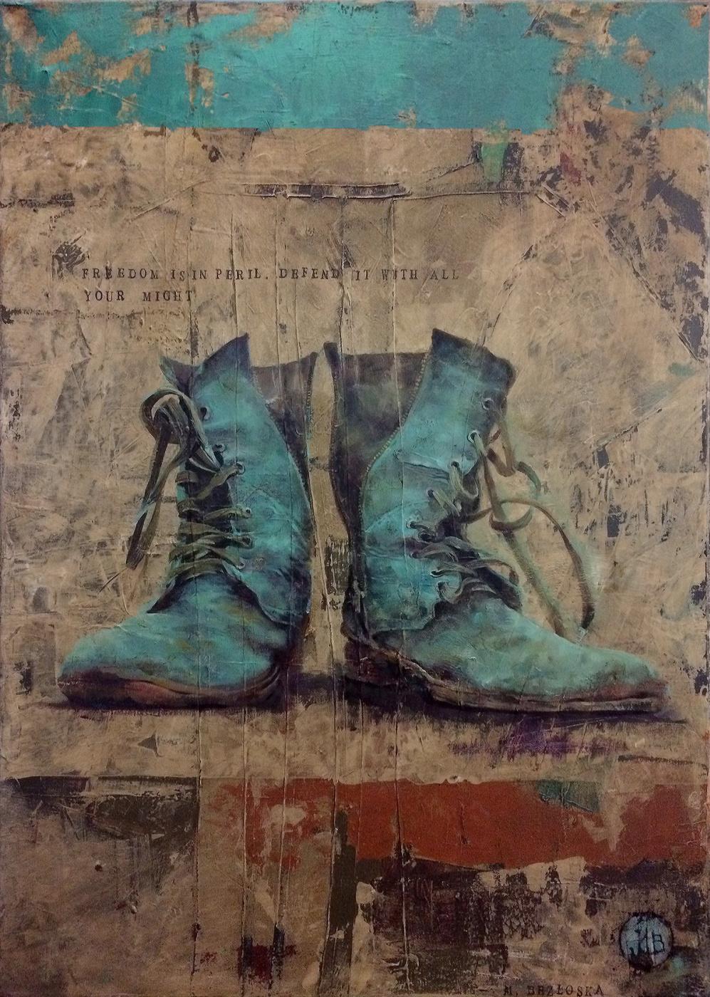 Mike Bezloska. Boots