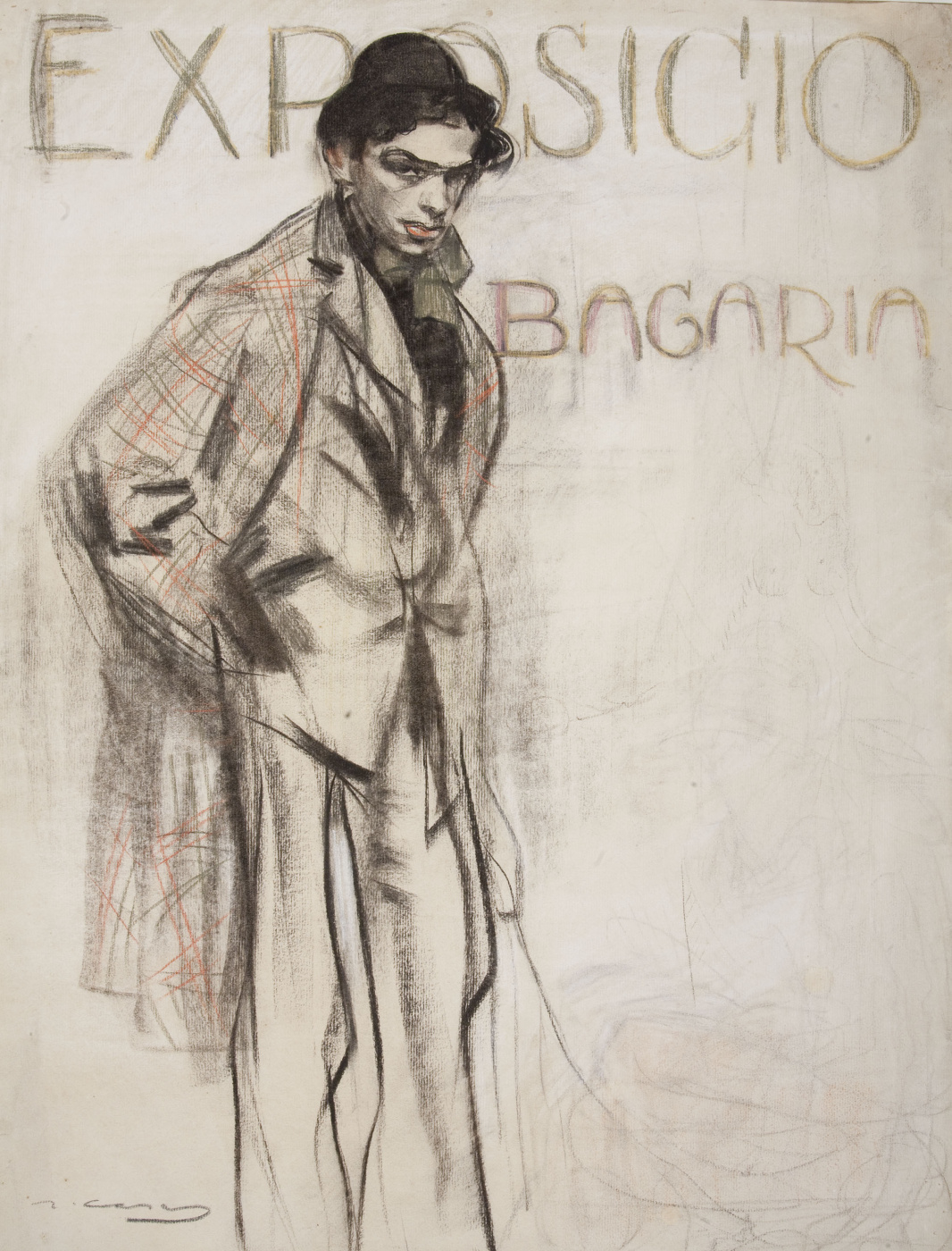 Ramon Casas i Carbó. Portrait of Lewis Bagaria