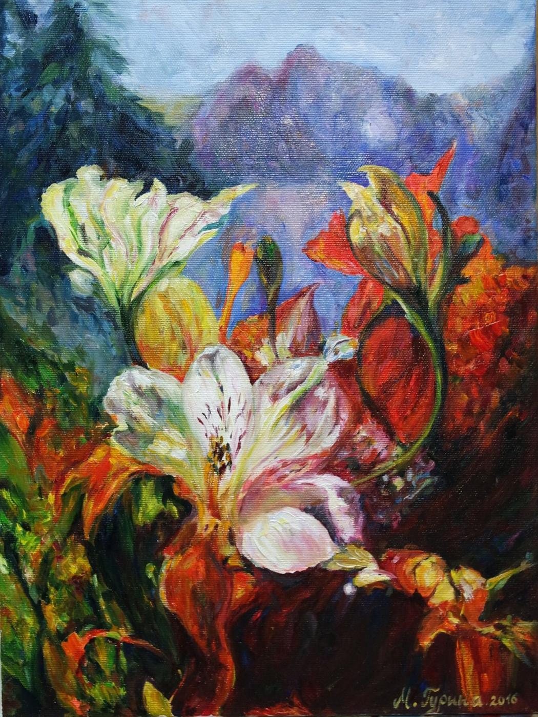 Marta Andreevna Gurina. Sunny bouquet of Alstroemeria
