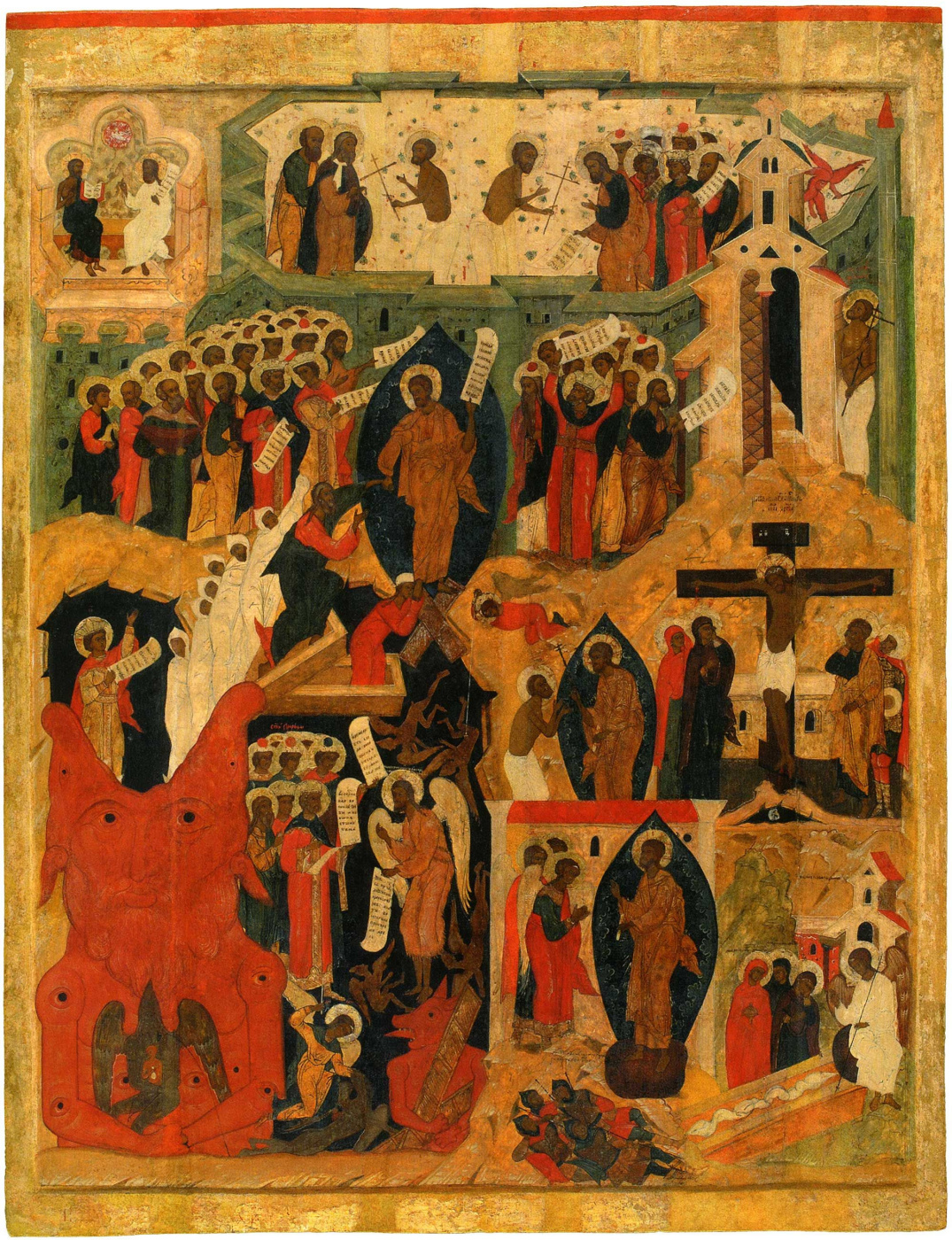 Icon Painting. Sunday. Descent into Hell