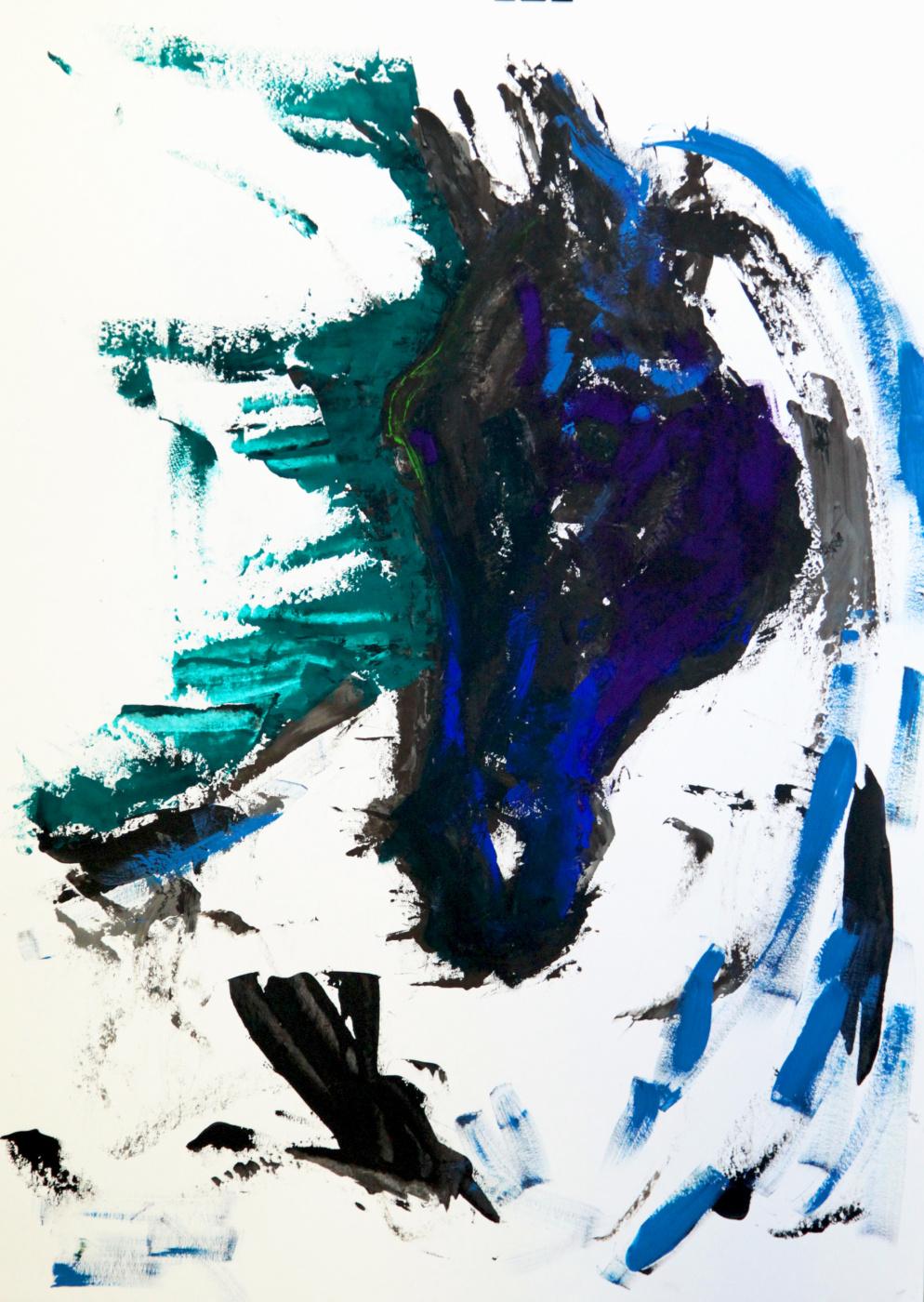 Lenok. The black horse