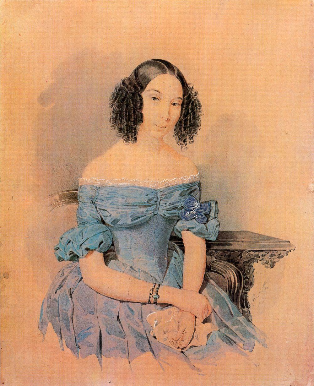 Alexey Alekseevich Alekseev. Portrait of a lady-in-waiting