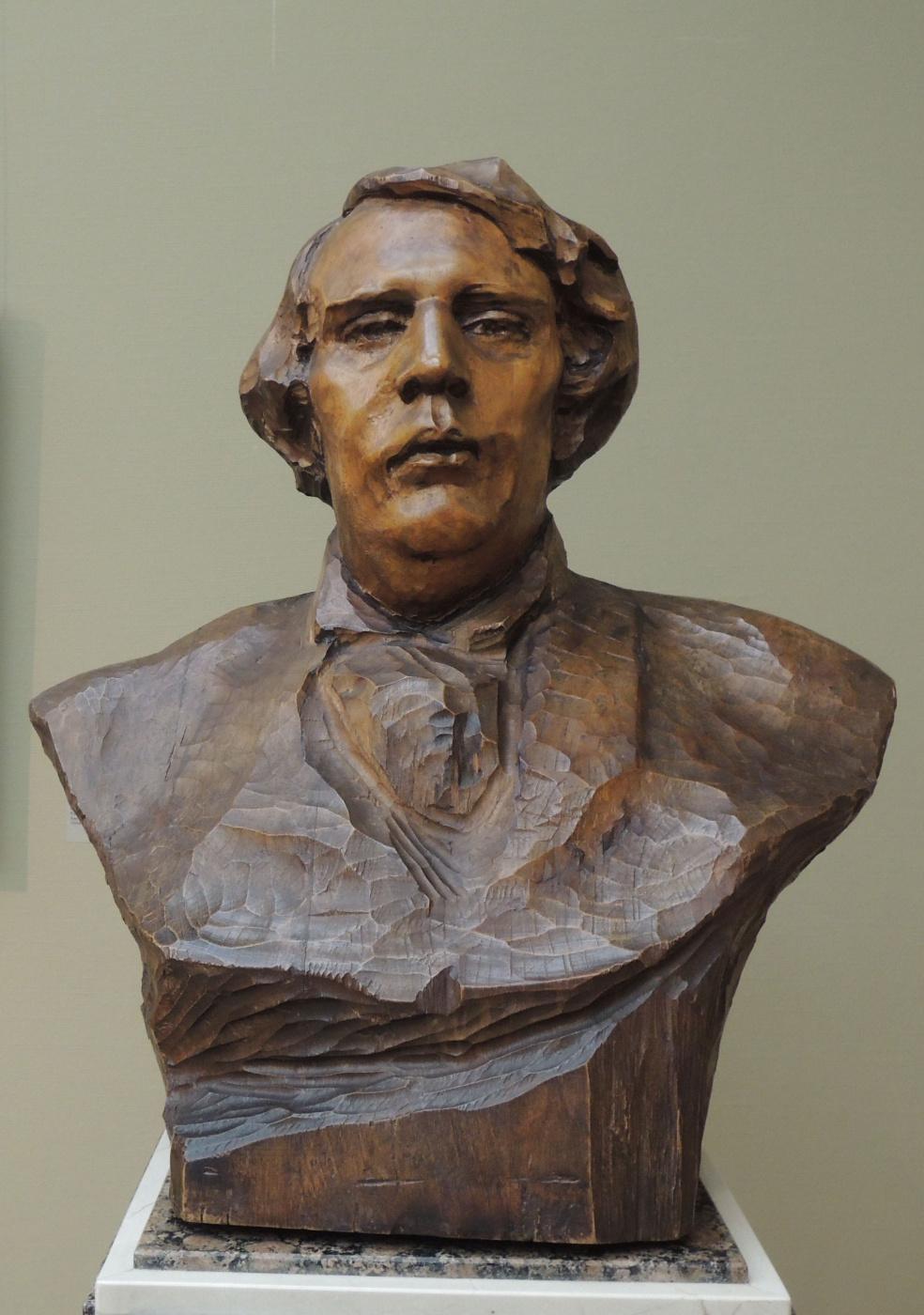 Anna Semyonovna Golubkina. Portrait Of A. N. Tolstoy