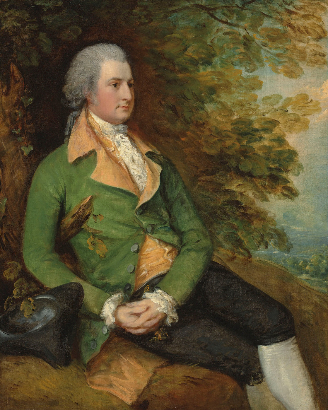 Thomas Gainsborough. Portrait of Thomas brook in a wooded landscape