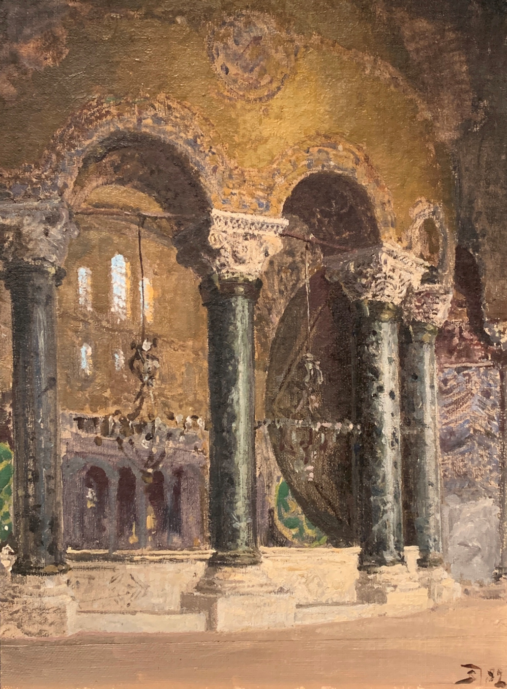Vasily Dmitrievich Polenov. At the choirs of the Temple of Sofia in Constantinople (Istanbul)
