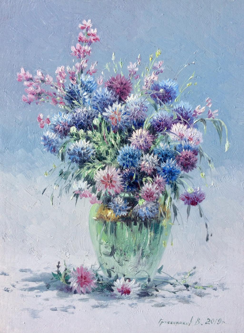 Vasily Ivanovich Gribennikov. Flax flowers