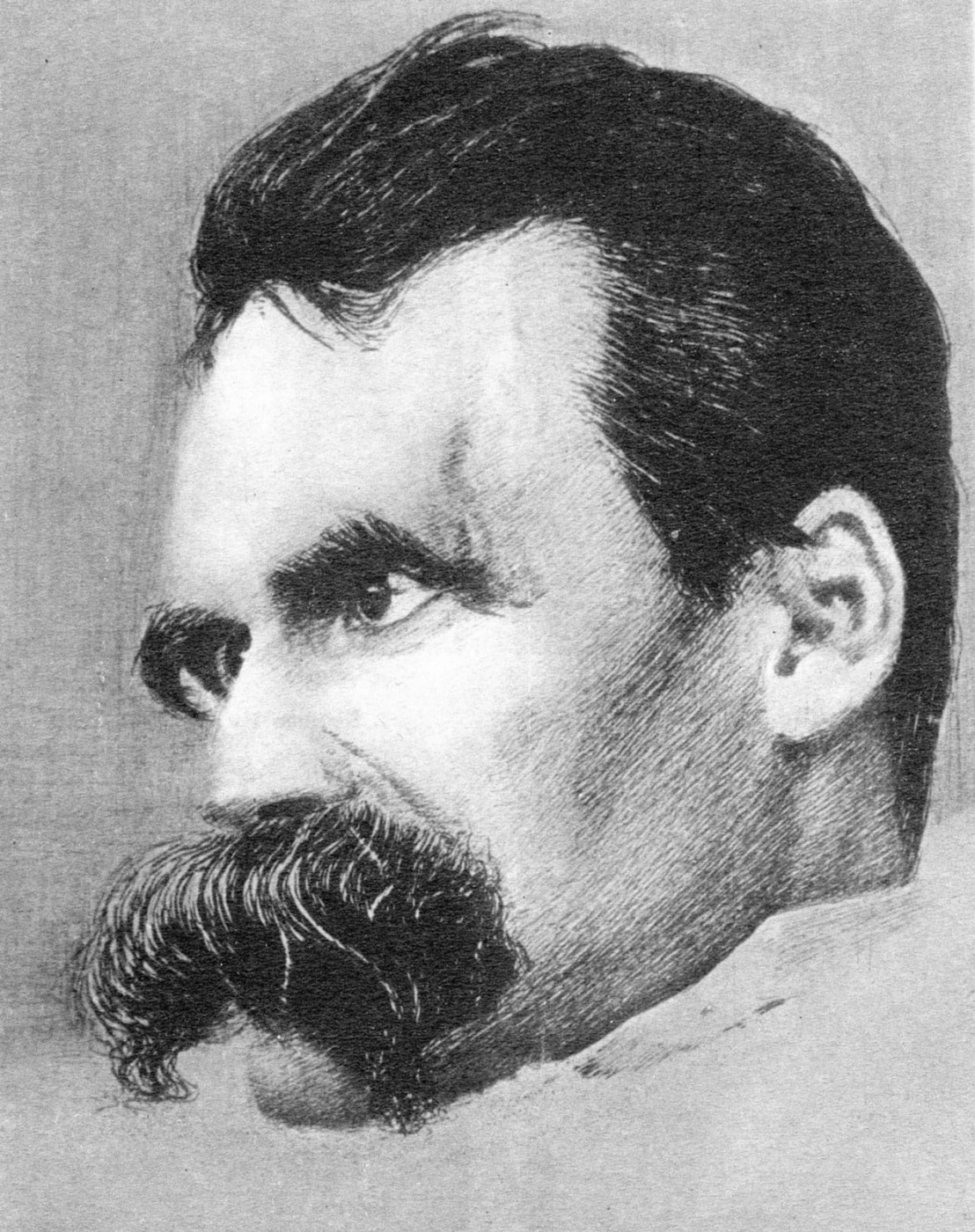 Louis Linda. Portrait of Friedrich Nietzsche by Linda Louis