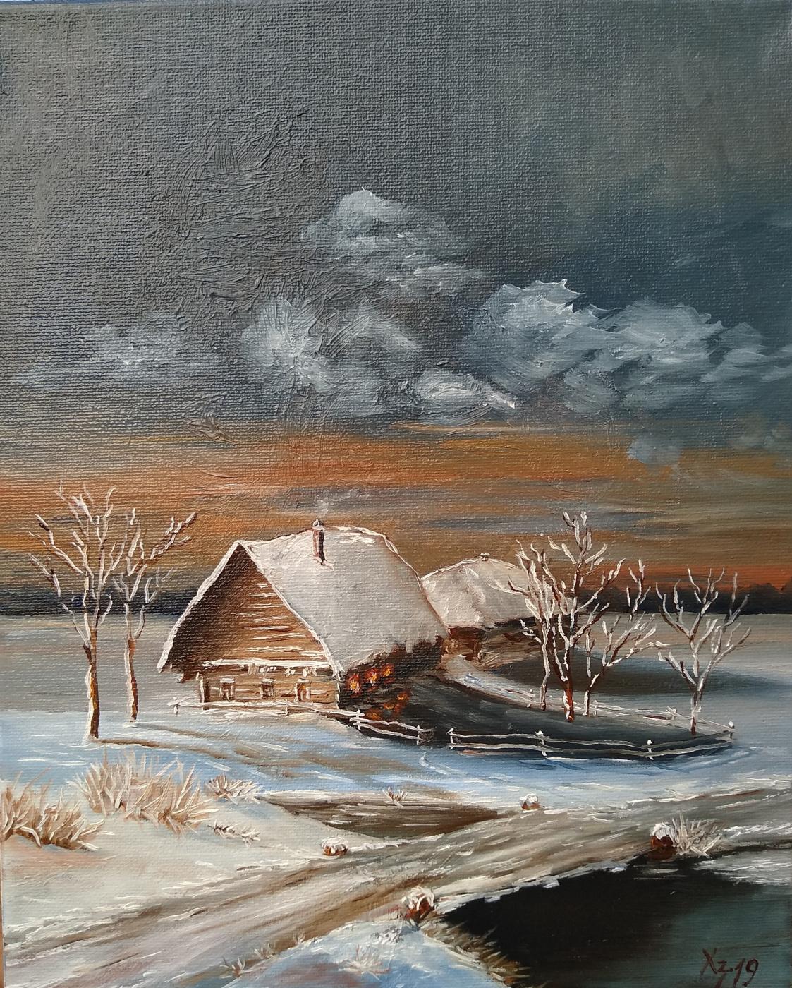 Сергей Николаевич Ходоренко-Затонский. Winter landscape