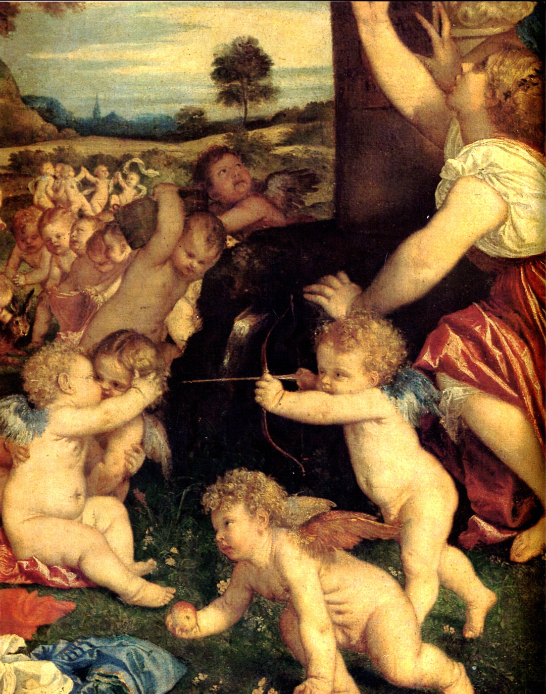 Titian Vecelli. The Worship Of Venus. Fragment