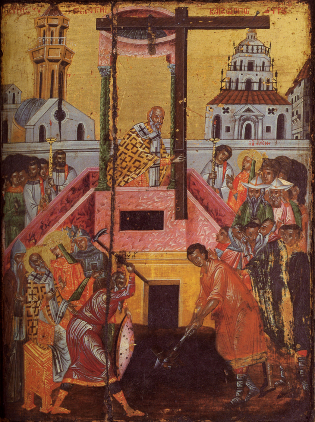 Unknown artist. Exaltation of the Cross (the turn of the icon of All Saints)