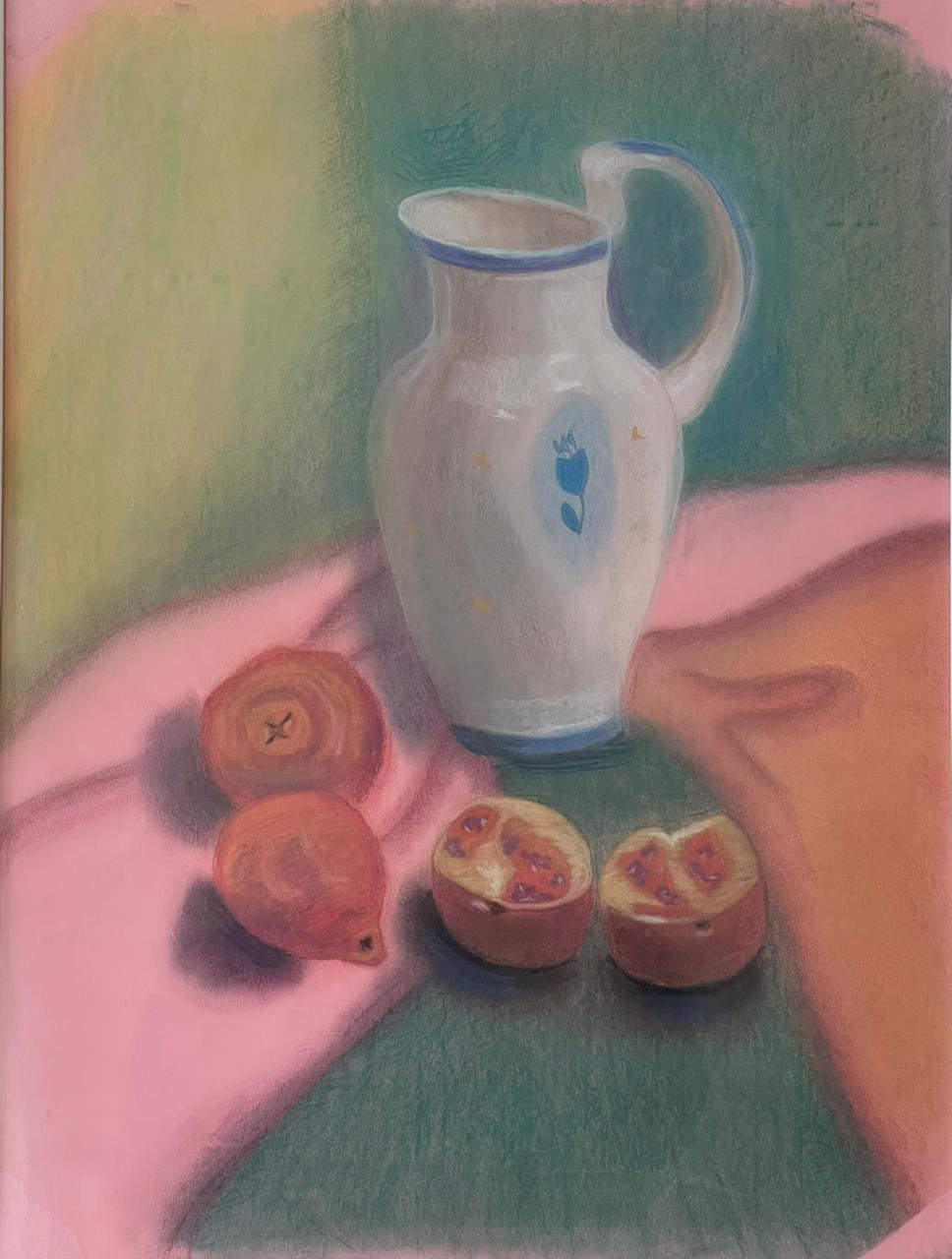 Olga Karnacheva. Still life with pomegranates