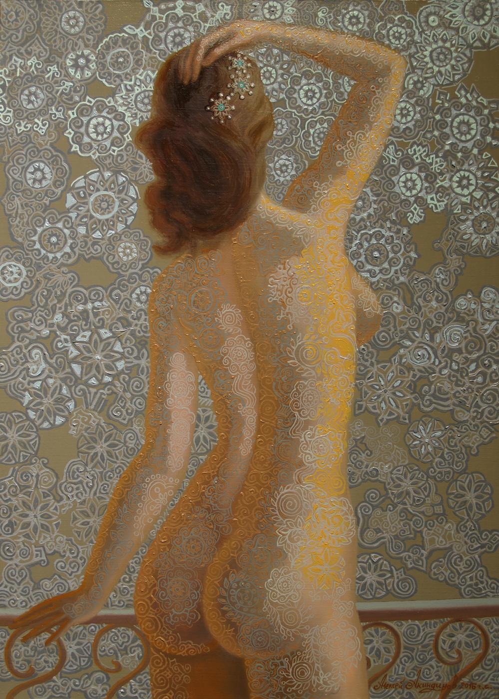 Алексей Петрович Акиндинов. Nude girl, back view