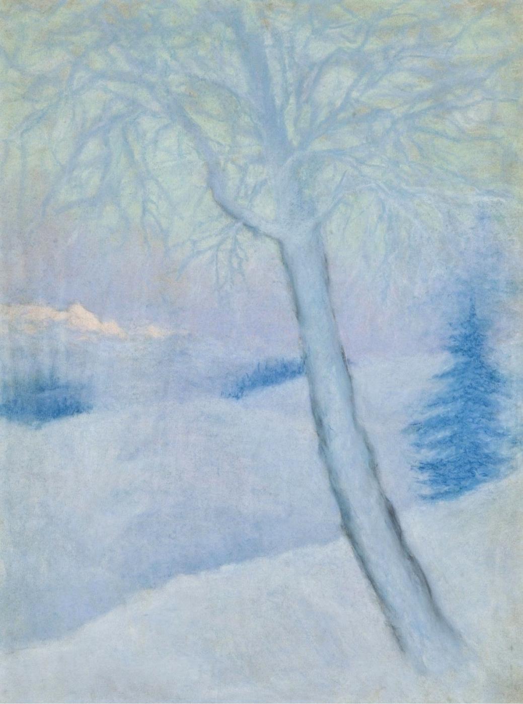Lucien Levi-Durme. Snow landscape