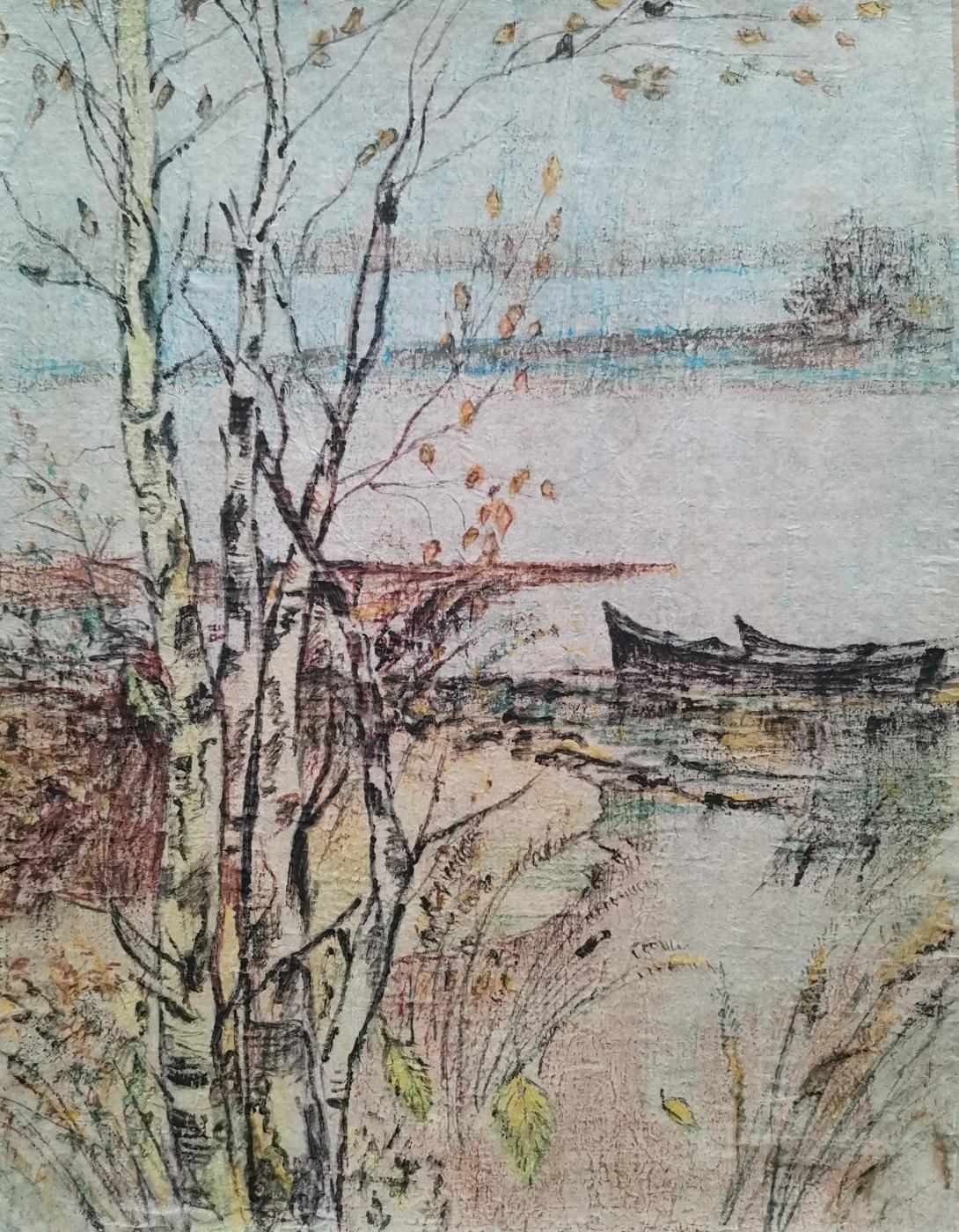Yuri Ivanovich Tsvetkov. Autumn landscape