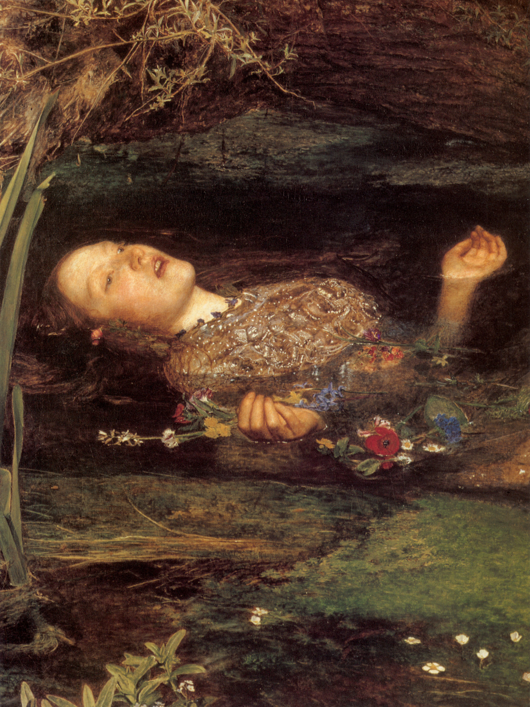 John Everett Millais. Ophelia. Fragment