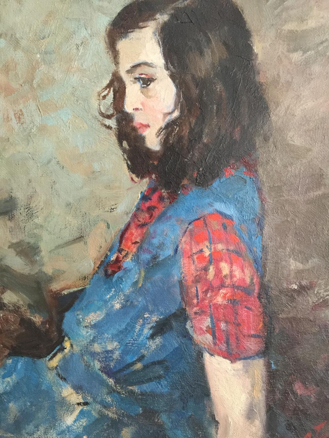 Simha Natanovich Guetsky. Portrait of a girl