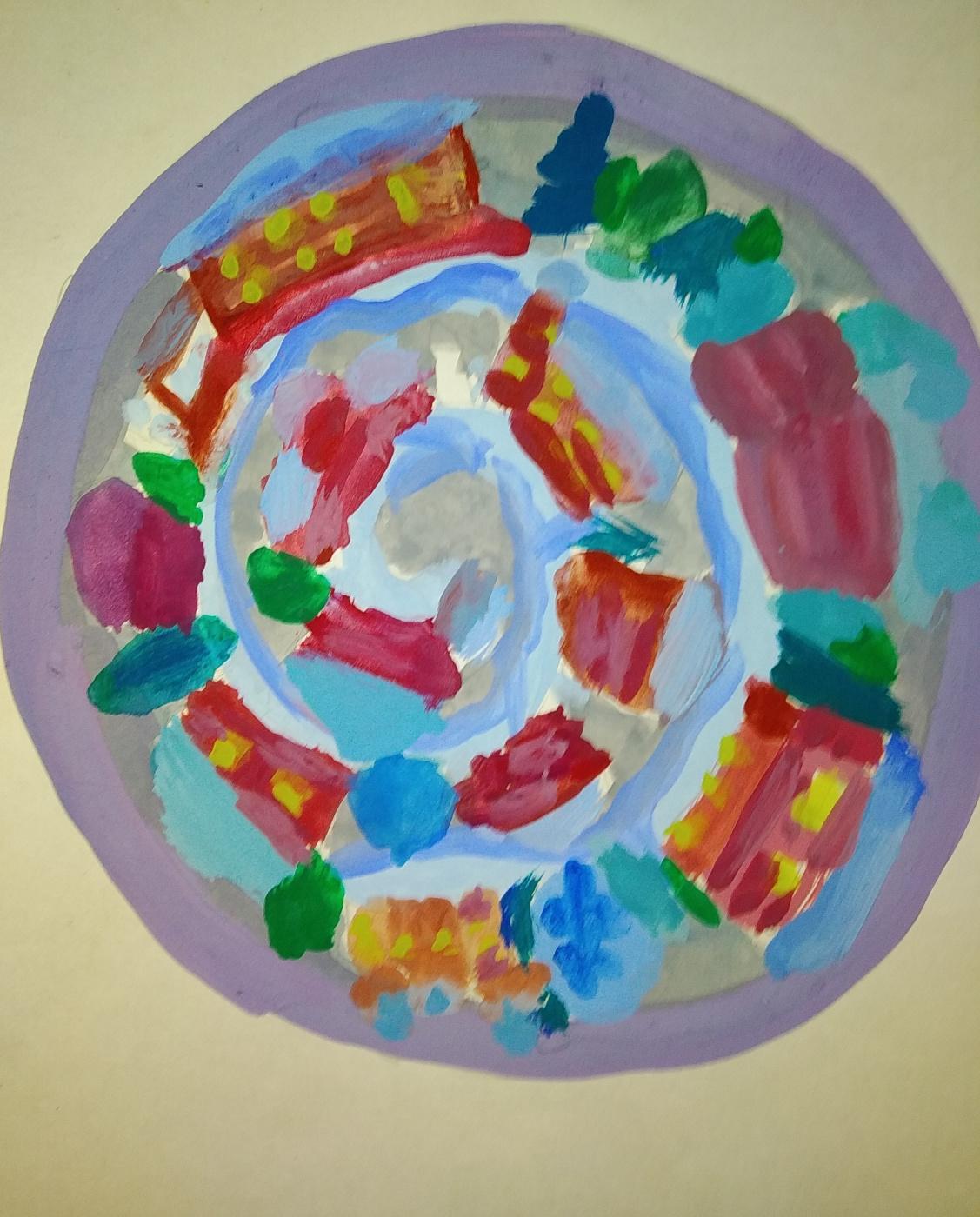 Zina Vladimirovna Parisva. Christmas plate sketch