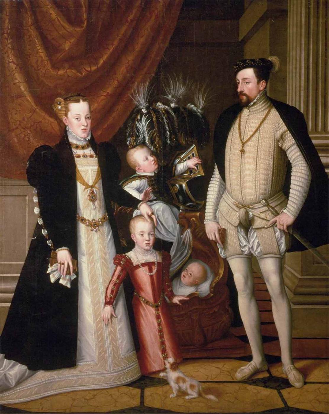 Giuseppe Arcimboldo. Portrait of Emperor Maximilian II with his family
