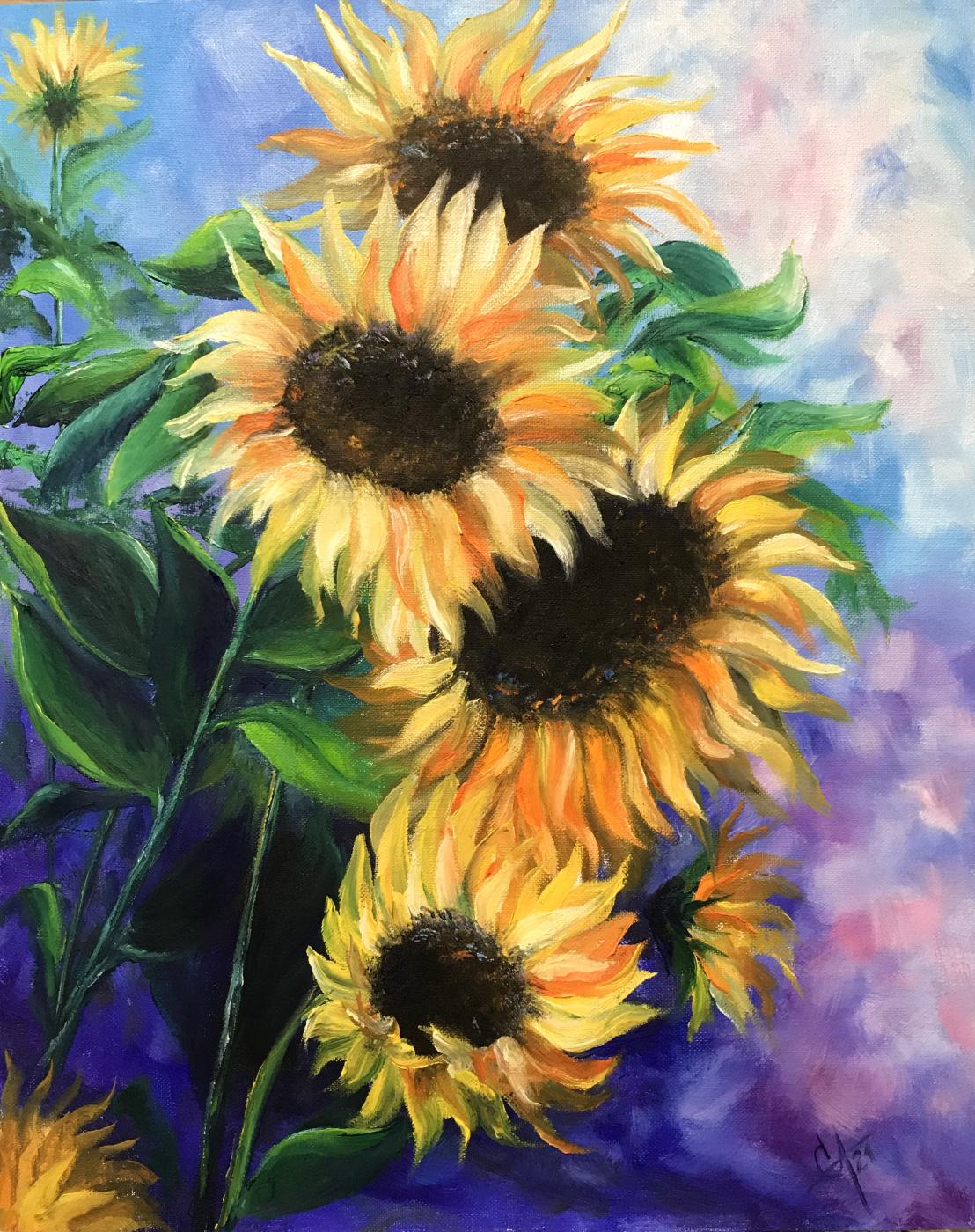 Svetlana Arkhipova. Bouquet of sunflowers
