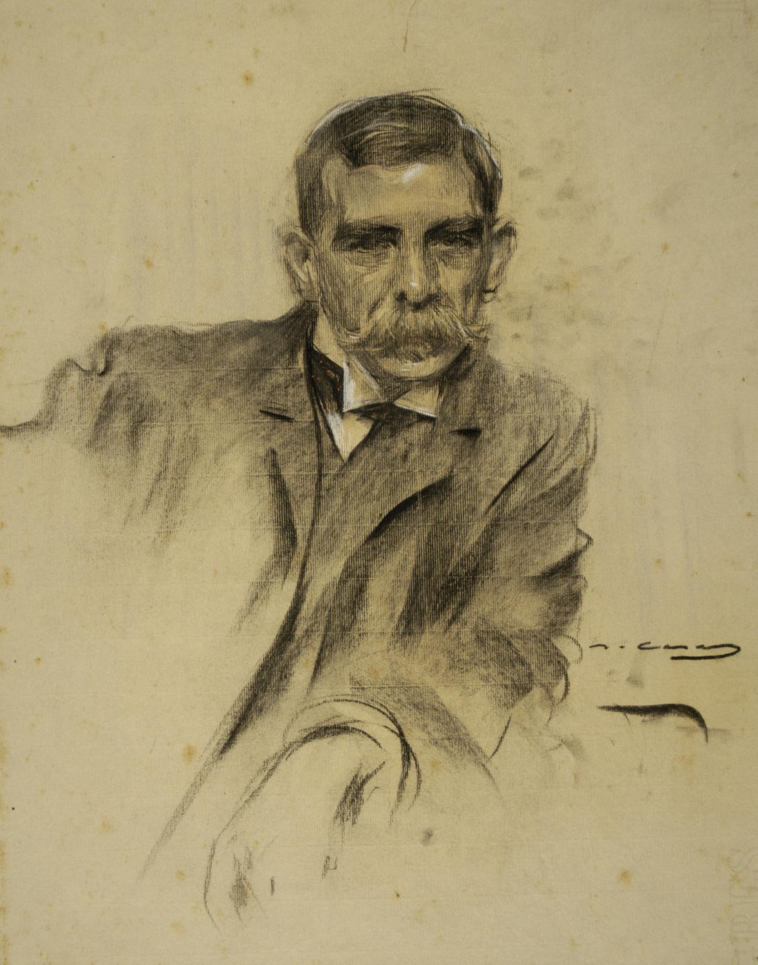 Ramon Casas i Carbó. Portrait of Emil Sala