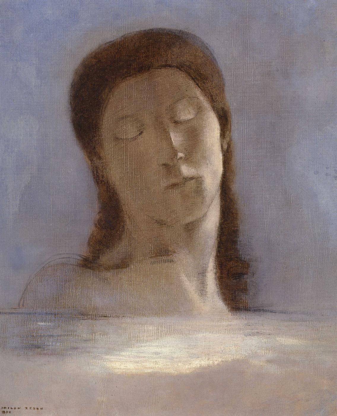 Odilon Redon. Closed eyes