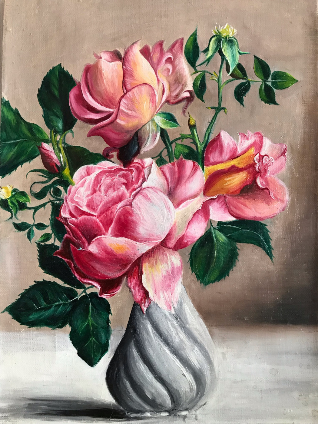 Elena Gorshkova. Flowers in a vase
