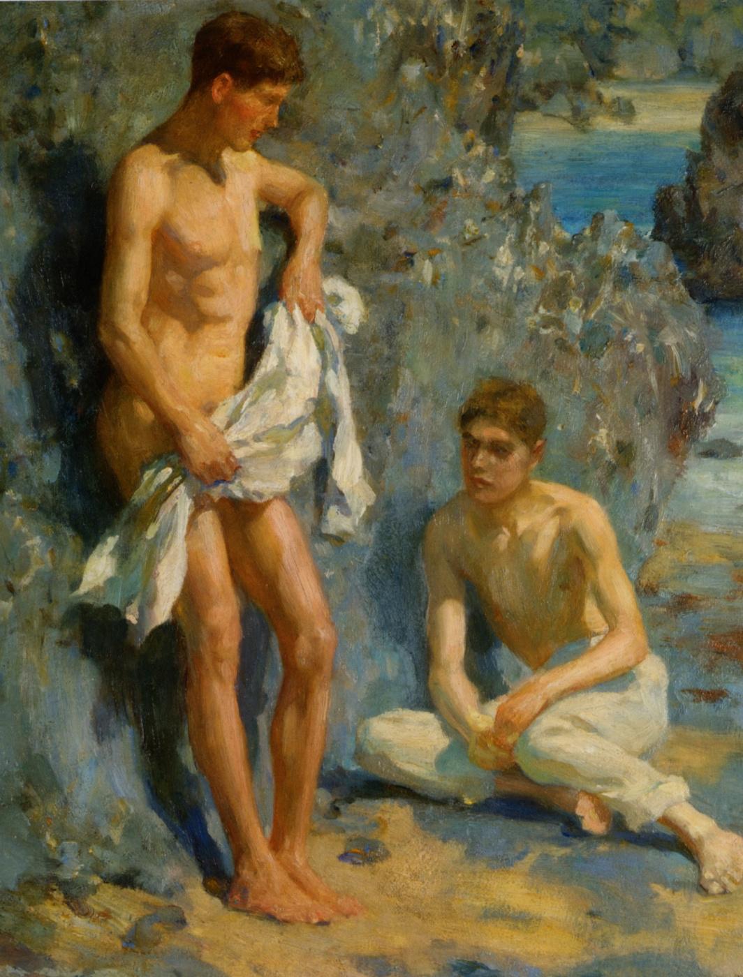 Tuke Henry Scott. 1858-1929. After the bathers, 1921