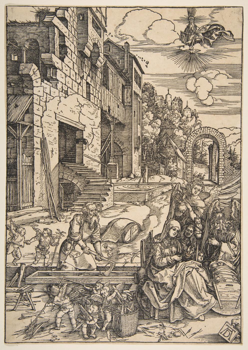 Albrecht Dürer. The Holy family in Egypt