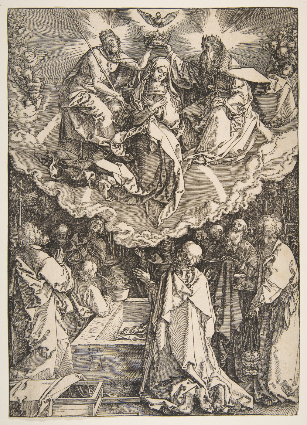 Albrecht Dürer. The assumption and coronation of the virgin