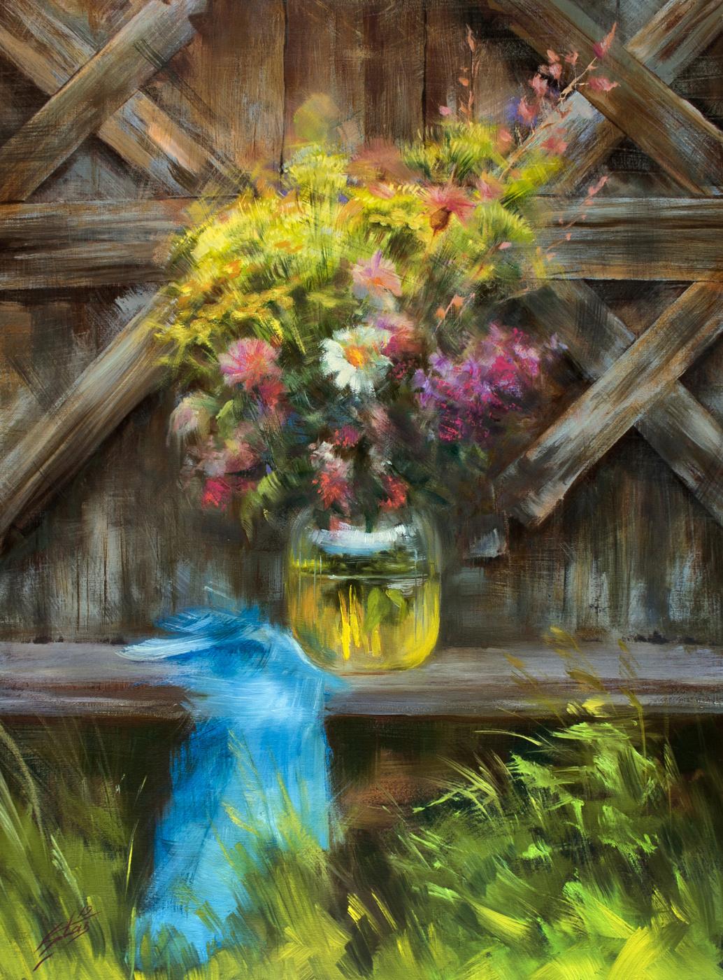Valery Olegovich Starkov. Flowers at the gate
