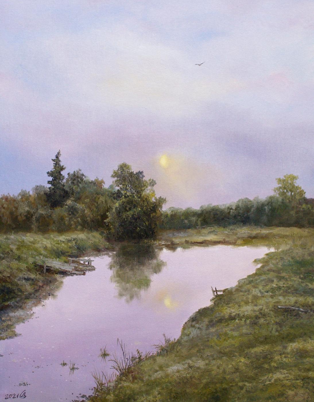 Сергей Владимирович Дорофеев. Луна над прудом