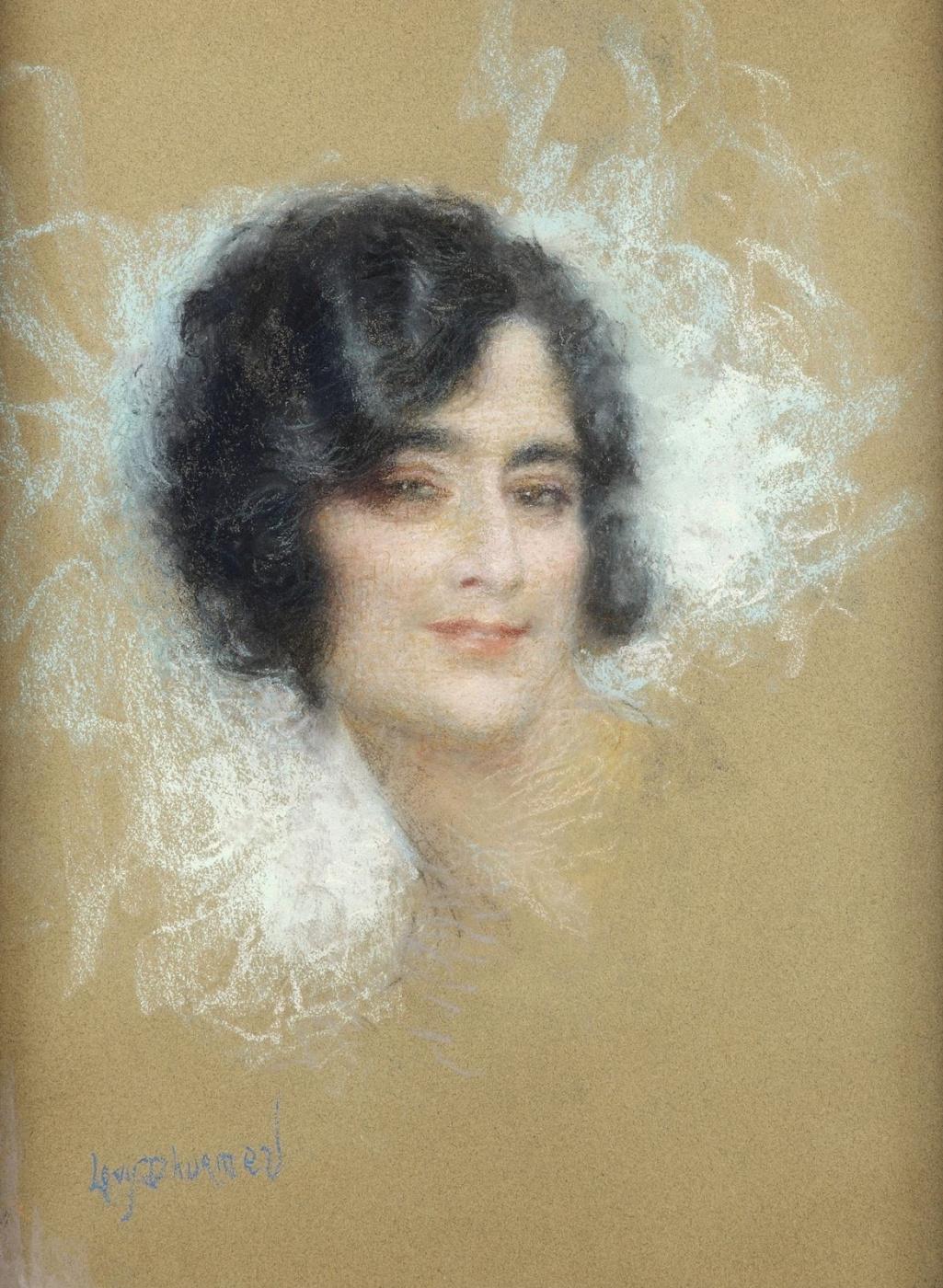 Lucien Levi-Durme. Female portrait.