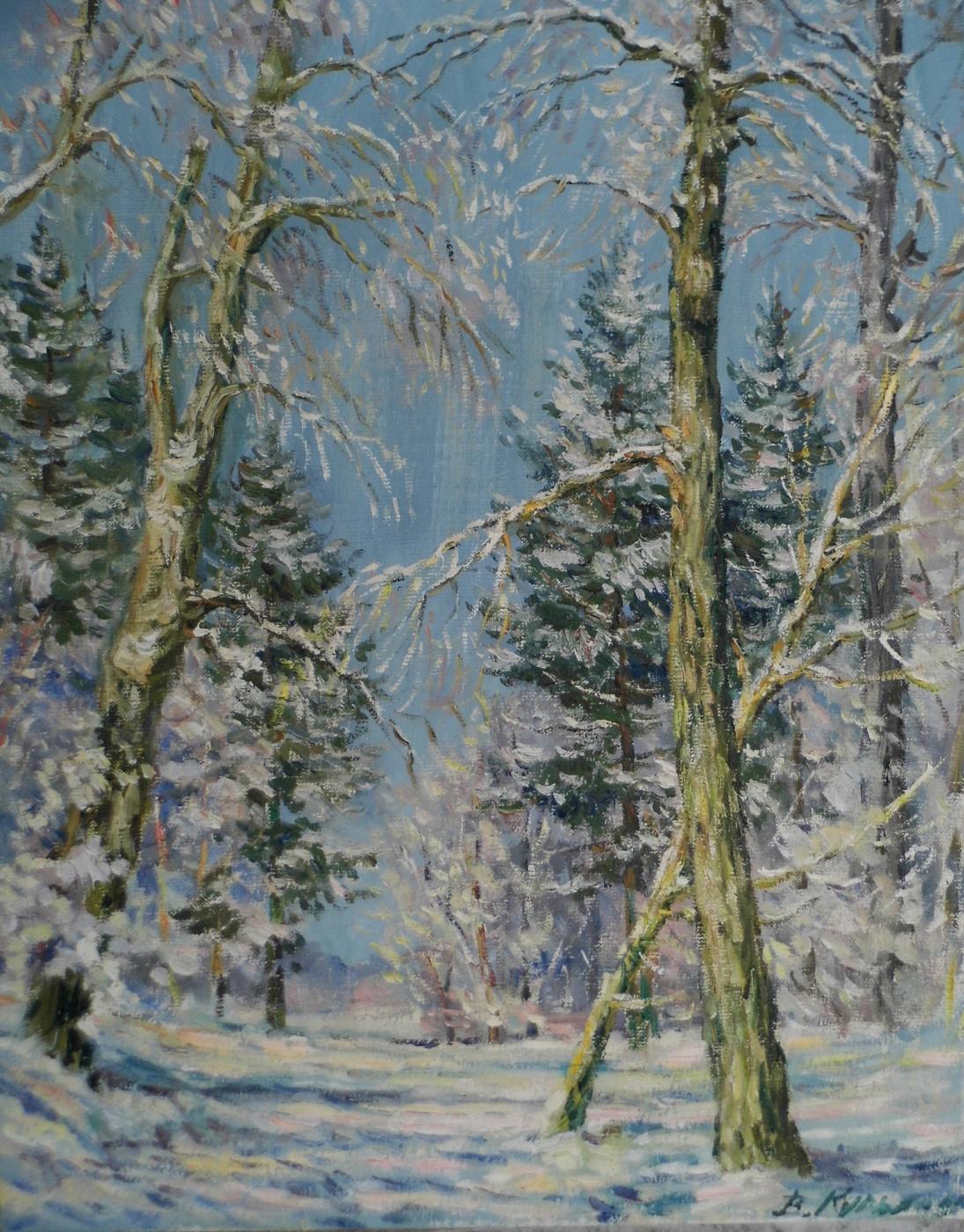 Victor Vladimirovich Kuryanov. Winter forest