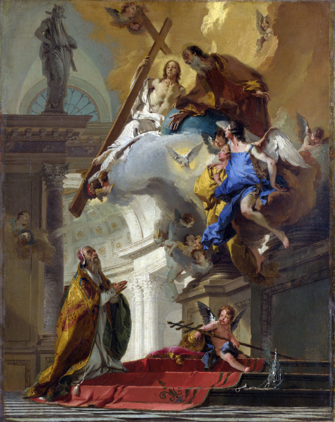 Giovanni Battista Tiepolo. Pope Clement I Praying to the Trinity