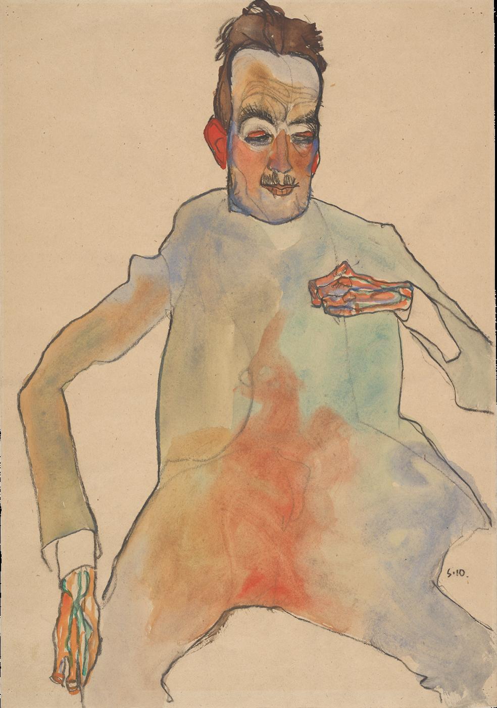 Egon Schiele. The Cellist