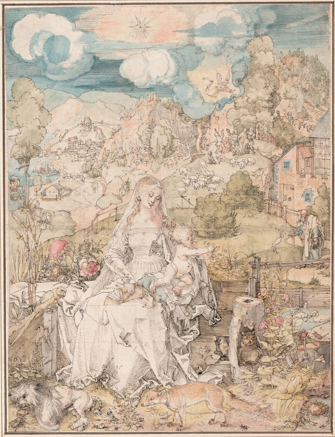 Albrecht Durer. The Virgin with a Multitude of Animals