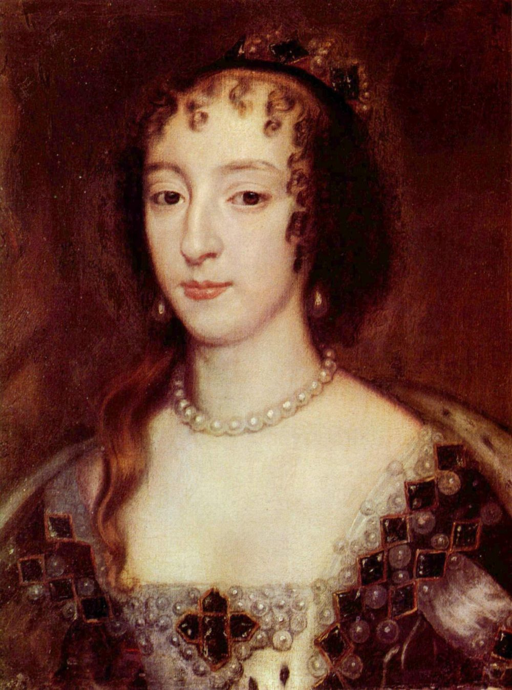 Sir peter leli. Portrait of Queen Henrietta French