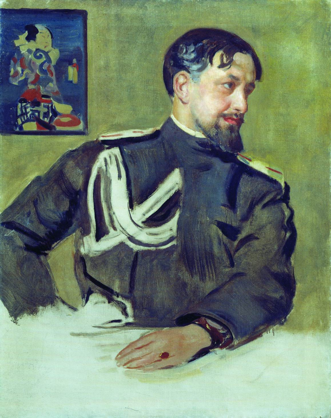 "Boris Kustodiev. Portrait Of N. D. Milioti. Unrealized sketch for a group portrait artists society ""World of art"""