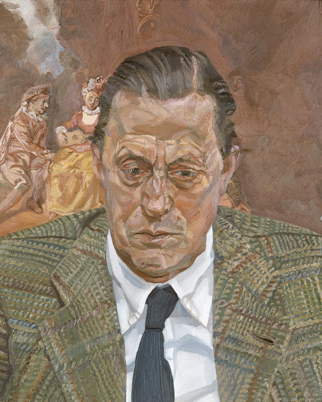 Lucien Freud. Male head