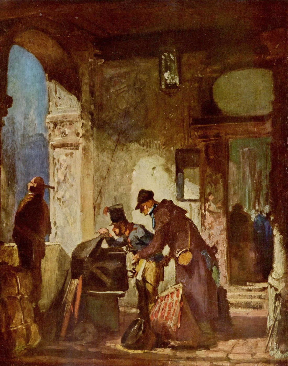 Karl Spitzweg. The papal customs officers