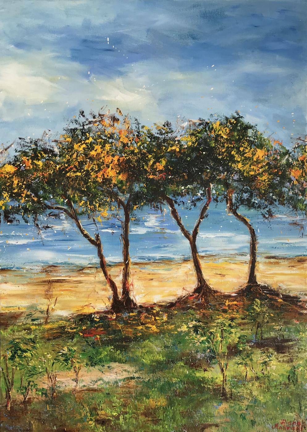 Диана Владимировна Маливани. Cyprus. Blooming Mimosa